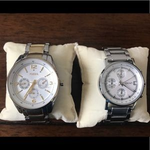 Group of 2 large face watches